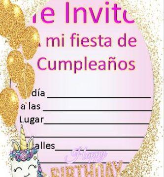 Invitacion de unicornio